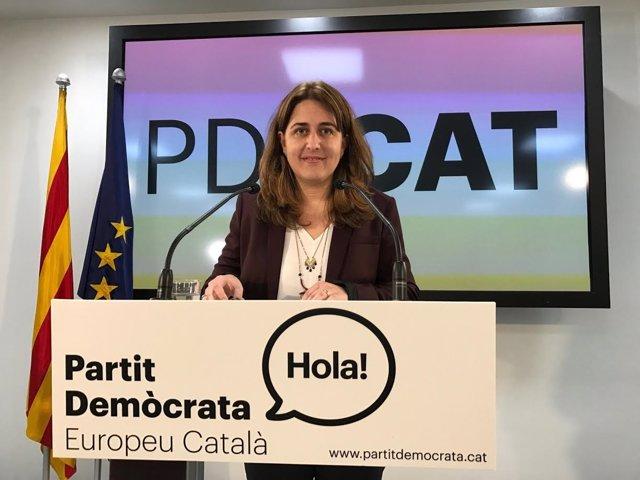 La coordinadora general del PDECAT, M.Pascal.