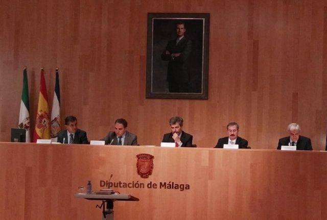 Lesmes en inauguración jornadas jueces decanos España en Málaga.