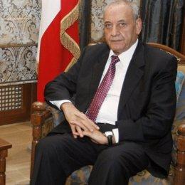Presidente  del Parlamento de Líbano, Nabih Berri