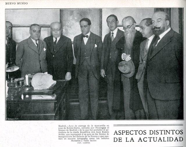 Acto de homenaje a Rubén Darío en el  Ateneo de Madrid