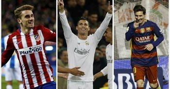 Cristiano, Messi, Griezmann, Suárez, Bale y Neymar, candidatos al Balón...