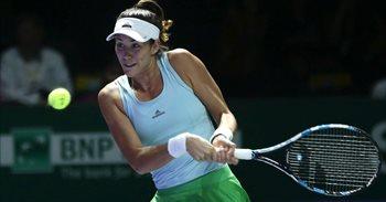 Muguruza desperdicia su ventaja ante Pliskova en las Finales del WTA