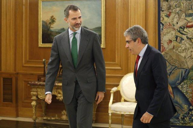 El Rey se reúne con Francesc Homs en Zarzuela