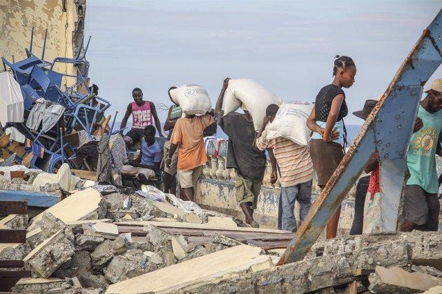 Departamento de Sud en Haití tras el paso de 'Matthew'