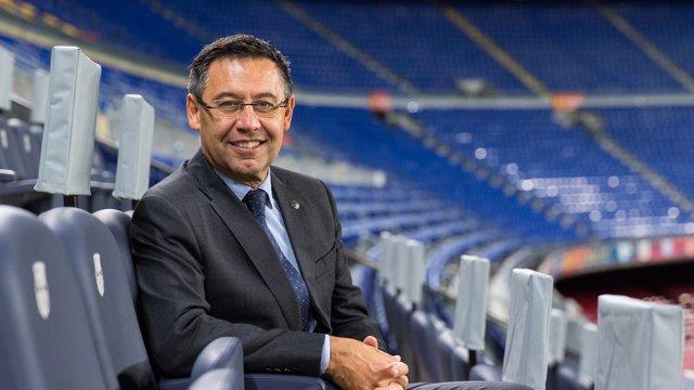 Josep Maria Bartomeu en el Camp Nou
