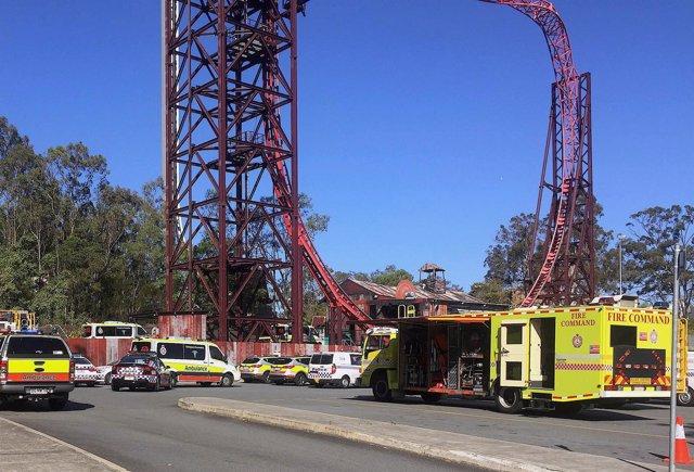 Accidente en un parque de atracciones de Australia