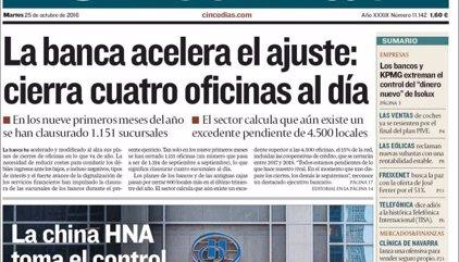 Las portadas de los periódicos económicos de hoy, martes 25 de octubre