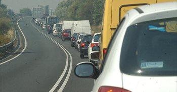 Varios accidentes en Murcia provocan 5 kilómetros de retención hasta la...
