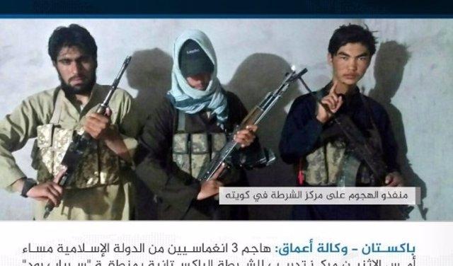 Mensaje de reivindicación de Estado Islámico del atentado con Quetta