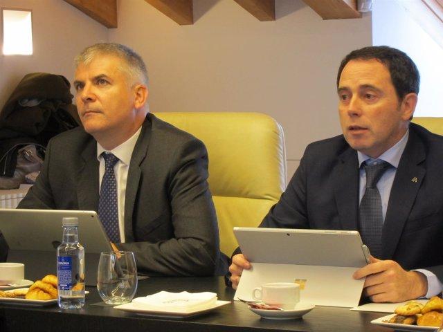 Santiago Lago (Foro Económico) y Manuel Ferro (Abanca)