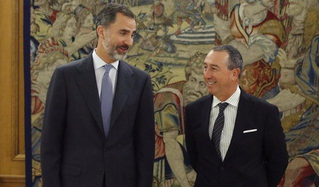 El rey Felipe recibe al portavoz de Compromís, Joan Baldoví
