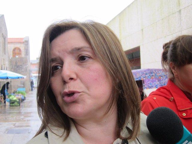 La presidenta de la gestora del PSdeG y diputada del PSOE, Pilar Cancela