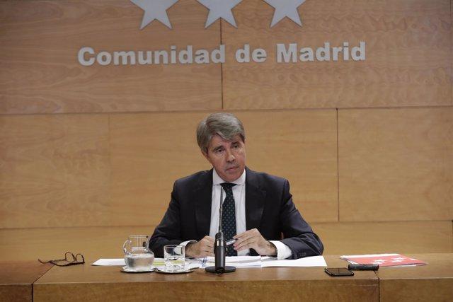 Garrido en rueda de prensa tras el Consejo de Gobierno