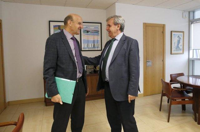 Reunión De la Sierra con alcalde San Felices