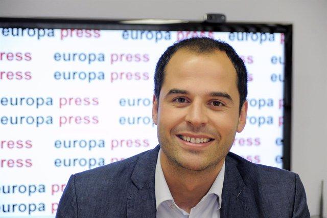 Ignacio Aguado en una entrevista en  Europa Press