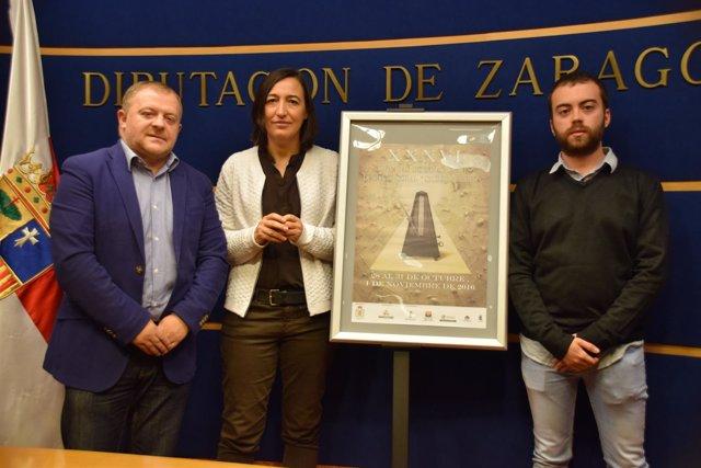 Eduardo Arilla, Cristina Palaciín y Carlos García, en rueda de prensa.