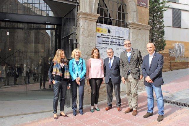 Visita de obras al Parador de Turismo de Lleida
