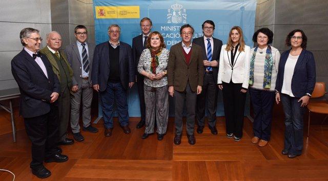 Integrantes del Patronato del CDMH reunidos en Madrid