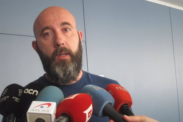 El concejal de la CUP en Barcelona Josep Garganté