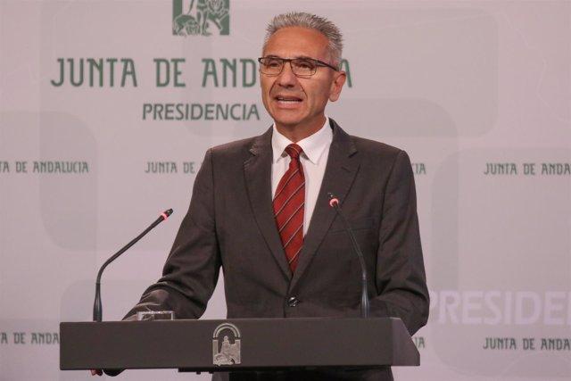 El portavoz del Gobierno, Miguel Ángel Vázquez