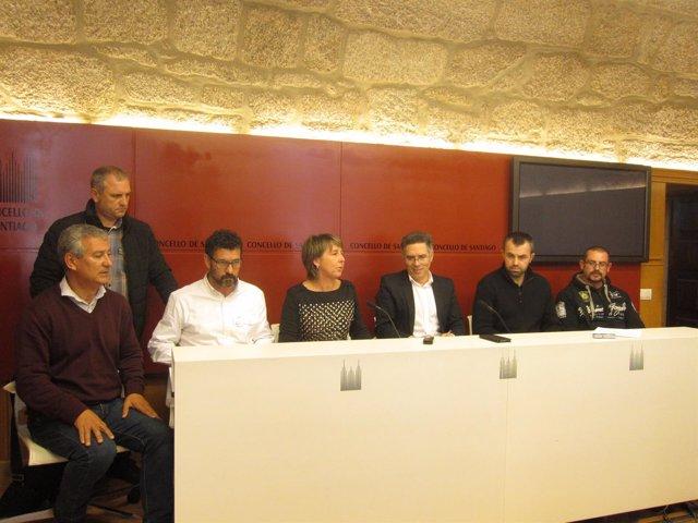 Representantes de los trabajadores del Ayuntamiento de Santiago