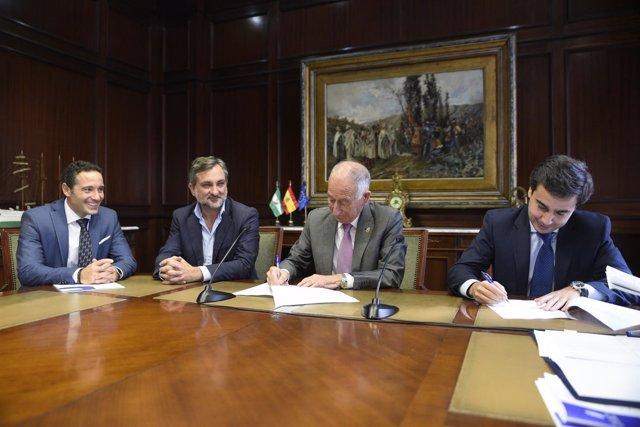 Diputación y Clece firman el nuevo convenio del Servicio de Ayuda a Domicilio.