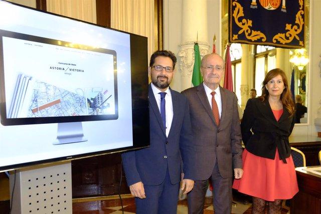 Pomares, De la Torre y Del Corral presentan el concurso internacional de ideas