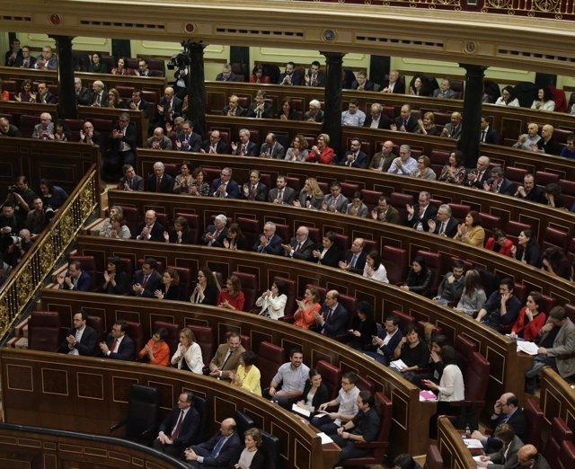Diputados del PSOE en el Hemiciclo