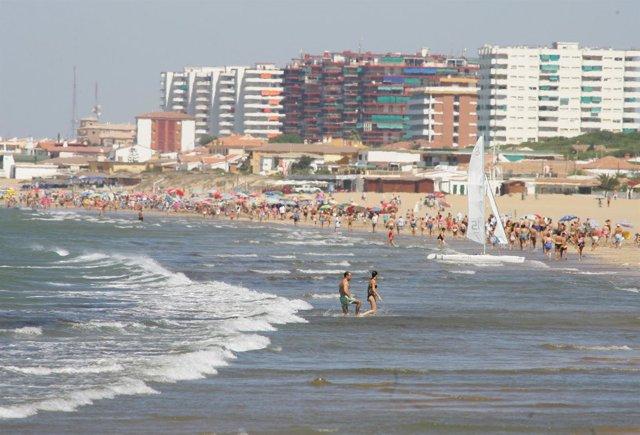Costa de Punta Umbría, playa urbana