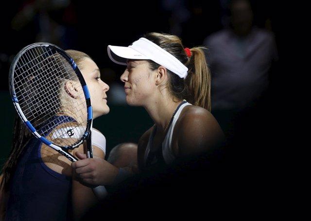 Garbiñe Muguruza Agnieszka Radwanska Finales WTA Singapur