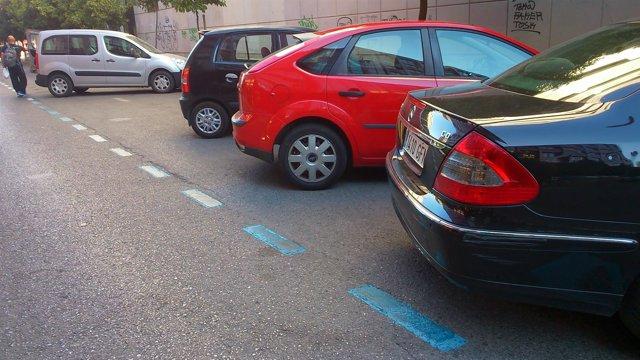 Zona azul en Sevilla.