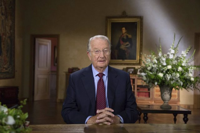 El rey de Bélgica, Alberto II, en su discurso de despedida a la nación