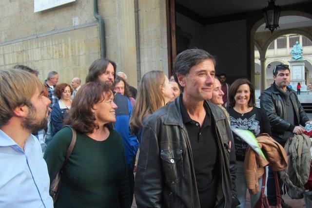 El Diputado De Podemos Asturias En La Junta General, Enrique López.