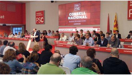 El Consell Nacional del PSC ratifica el 'no' a Rajoy y pide mantener la relación con PSOE