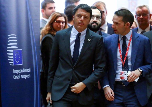 El primer ministro de Italia, Matteo Renzi