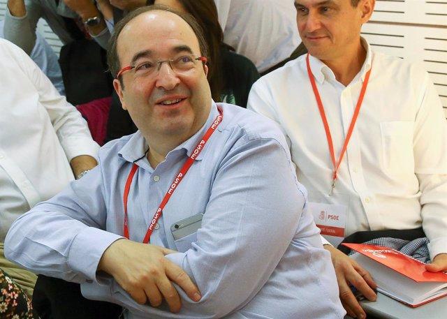 Miquel Iceta en el Comité Federal del PSOE