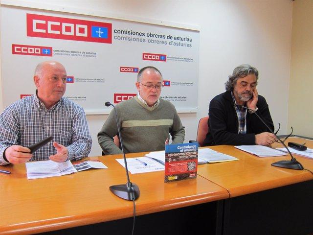 Rueda de prensa CCOO campaña control del amianto.