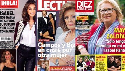 Isabel habla sobre su boda, la crisis de Mª Teresa y Bigote y Mayte Zaldívar rompe su silencio