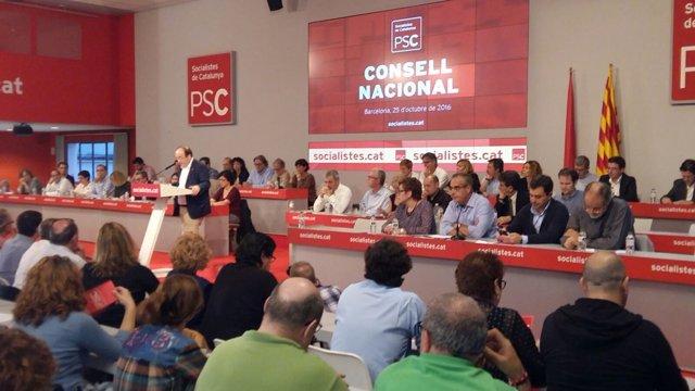 El primer secretario del PSC, Miquel Iceta, en el Consell Nacional