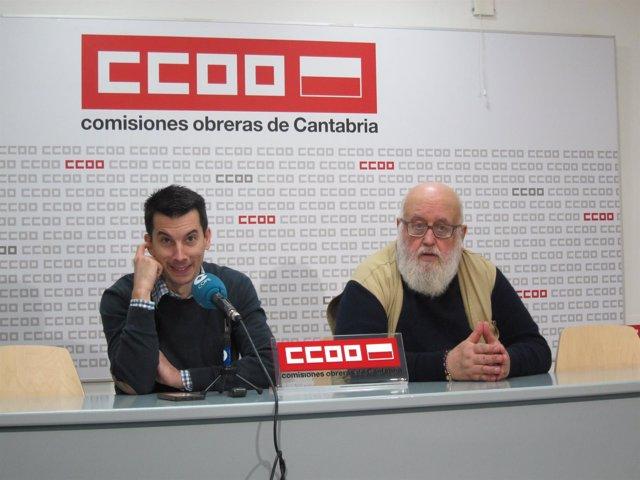 Luis Gonzalo Segura, exteniente del Ejército del Aire, y Miguel García