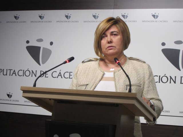Rosario Cordero, presidenta de la diputación de Cáceres