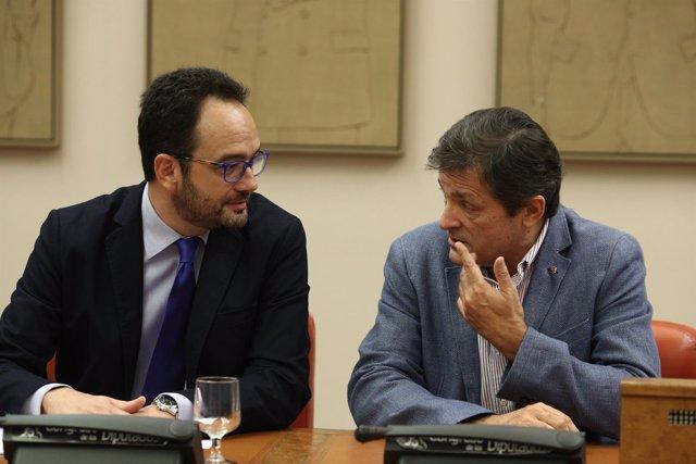 Javier Fernández y Antonio Hernando