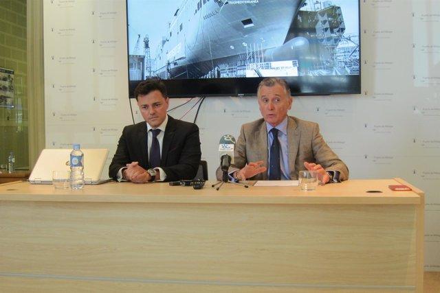 Paulino Plata y Mario Quero analizan la ruta malaga melilla de transmediterránea
