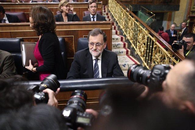Rajoy en el debate de su investidura