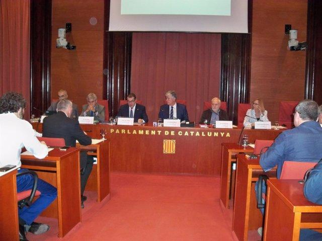 El conseller Jordi Jané en la Comisión de Interior del Parlament
