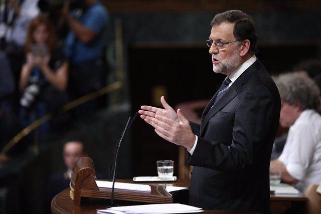 Rajoy en el debate de investidua