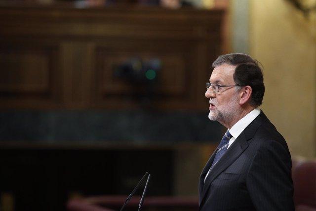 Rajoy en el debate de investidura