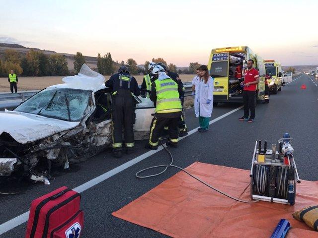 Imagen del accidente en Quintanavides