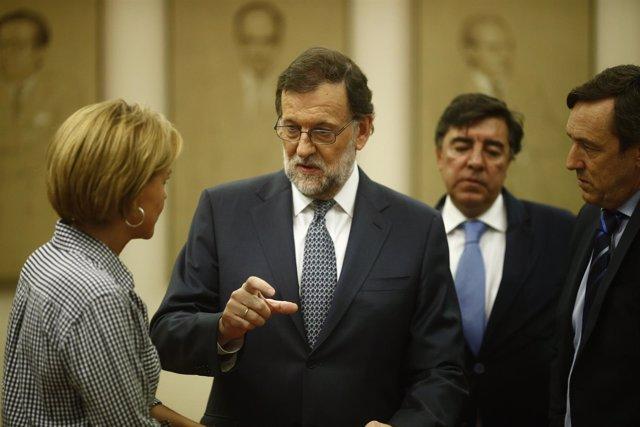 Rajoy preside la reunión del Grupo Parlamentario del PP en el Congreso