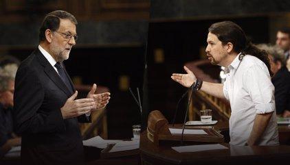 Rajoy tira de retranca para responder a Iglesias y le asegura que no teme las manifestaciones